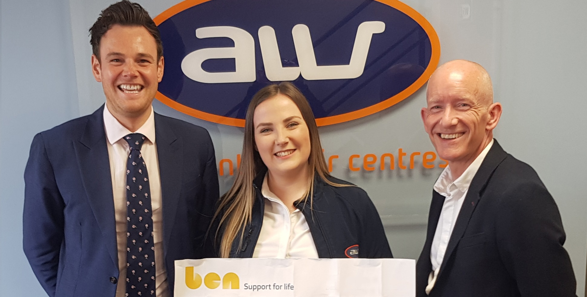 £1,000 donation to industry charity, Ben